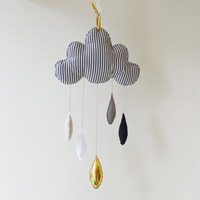 BB Wall Mobile, Nuage, Striped