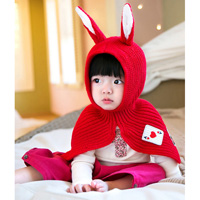 Rabbit Ear Cape, Baby (Red)