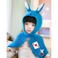 Rabbit Ear Cape, Baby (Blue)