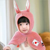 Rabbit Ear Cape, Baby (Pink)