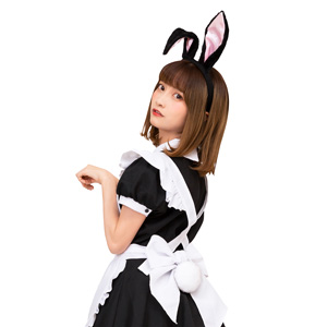 Kemonomimi Ears and Tail Set Black Rabbit / Cosplay Goods, Costume