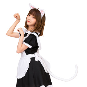 Kemonomimi Ears and Tail Set White Cat / Cosplay Goods, Costume