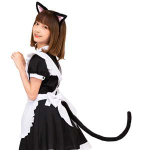 Kemonomimi Ears and Tail Set Black Cat / Cosplay Goods, Costume