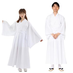 Hakama White Color / Cosplay, Kimono, Unisex