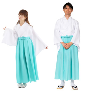 Hakama Light Blue Color / Cosplay, Kimono, Unisex