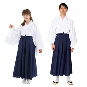 Hakama Navy Blue Color / Cosplay, Kimono, Unisex
