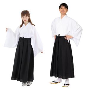 Hakama Black Color / Cosplay, Kimono, Unisex