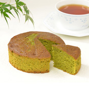 Dense Macha Tea & Chestnut Cake