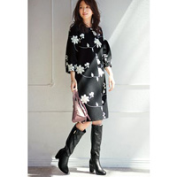 [IMAGE] Floral Pattern Embroidered Dress / Winter 2018 New Item, Ladies'