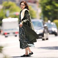 [IMAGE] Retro Print Maxi-Length Dress / 2018 Winter Lineup, Ladies
