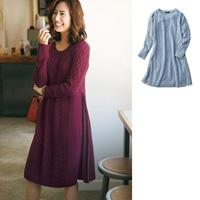 [IMAGE] Side-Pleated Knit Dress / Winter 2018 New Item, Ladies'