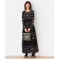 [IMAGE] Lace Paneled Floral Pattern Print Dress / Winter 2018 New Item, Ladies'