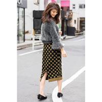 [IMAGE] Dot Jacquard Knit Skirt / Winter 2018 New Item, Ladies'