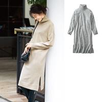 [IMAGE] Long Knit Dress / Winter 2018 New Item, Ladies'