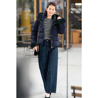 [IMAGE] Center Crease Wide Denim Pants / 2018 Winter Lineup, Ladies