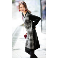 [IMAGE] Check Knit Dress / Winter 2018 New Item, Ladies'