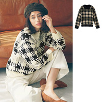 [IMAGE] Houndstooth Jacquard Knit / New Arrival Winter 2018, Ladies