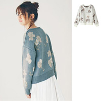 [IMAGE] Flower Jacquered Knit Sweater / New Arrival Winter 2018, Ladies