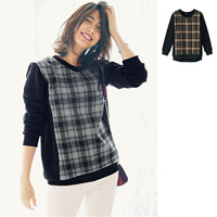 [IMAGE] Cut-and-sewn Plaid Tunic / New Arrival Winter 2018, Ladies