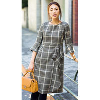 [IMAGE] Plaid Frilled Dress / New Arrival Winter 2018, Ladies