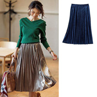 [IMAGE] Velour Pleated Skirt / Midwinter 2018 New Item, Ladies