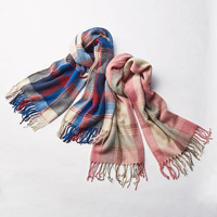 [IMAGE] Check Fluffy Scarf / Midwinter 2018 New Item, Ladies