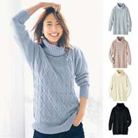 [IMAGE] Mixed Pattern Knit Sweater / New Arrival Winter 2018, Ladies