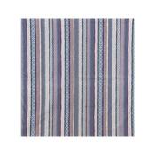 Kurochiku Large Cotton Furoshiki, Stripe Komon, Blue