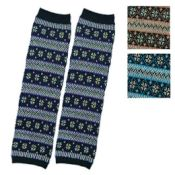 Jacquard Exotic-Pattern Leg Warmers