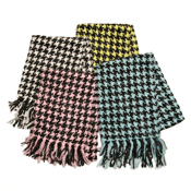 [fleur de paulownia] Houndstooth Check Mini Scarf (Made in Japan)