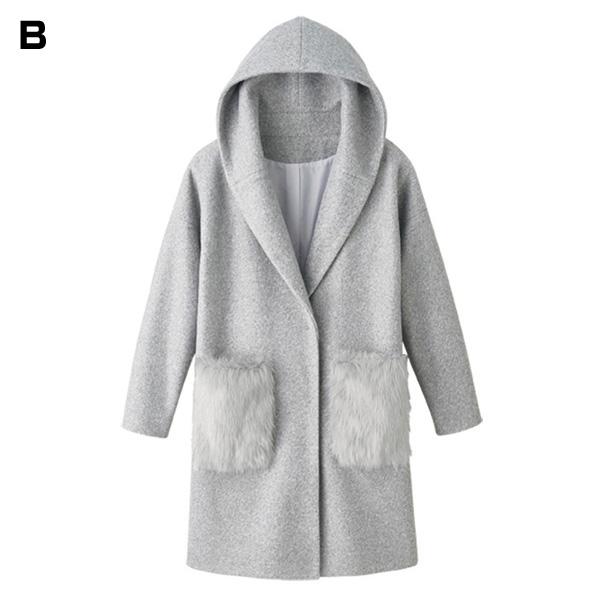 Ryuryu Pocket Fur Design Coat Fall Winter 2018 New Item Ladies