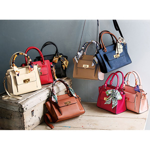 GeeRa easily arranged bag with scarf/2021 new spring item,ladies