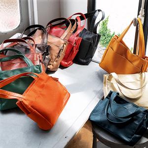 "GeeRa ""multi storing"" 10 pockets tote bag/2021 new spring item,ladies"