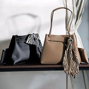 GeeRa set bag with scarf/2021 new spring item,ladies