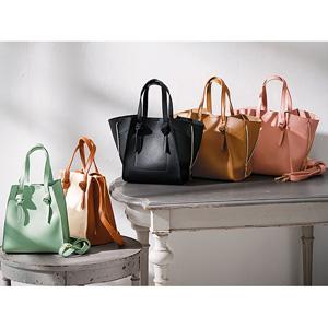 GeeRa 2way bag with side zipper/2021 new spring item,ladies