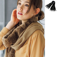 [RyuRyu] Belt Included! Large Faux Fur Stole / SALE