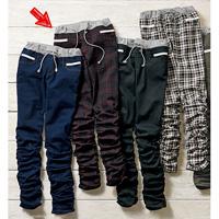 [RyuRyu] Lacy Waist Rib Crumpled-Cuff Skinny Pants (S) /SALE