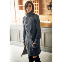[RyuRyu] Front-Pocket Turtleneck Knit Dress  /SALE