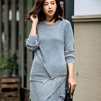 [RyuRyu] Paneled Design Knit Set  /SALE