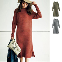 [RyuRyu] Textured Alpaca-Blend Stretchy Knit Dress  /SALE