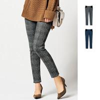 [RyuRyu] Snug-Waist Fleece-Lined Leggings Pants  /SALE
