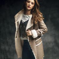 [RyuRyu] Ladylike Faux Mouton Coat (M) /SALE