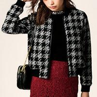 [RyuRyu] Houndstooth Tweed Blouson (M) /SALE
