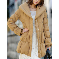 [RyuRyu] Padded Long Coat (S) /SALE