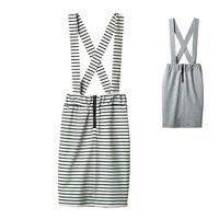 [RyuRyu] Tight-Skirt with Suspenders  /SALE