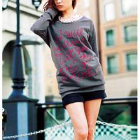 [RyuRyu] Soft Touch Print Long Sweatshirt  /SALE