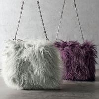 [Ranan] Tibetan Lamb Fur Shoulder Bag / Fall & Winter 2018 New Item, Ladies'