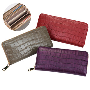 [Ranan] Split Leather Croc-Embossed Long Wallet / New Arrival Autumn/Winter 2019, Ladies