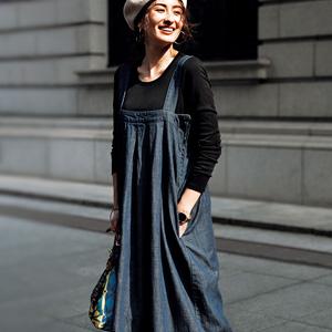 [Ranan] Back Design Denim Jumper Skirt / New Arrival Spring 2020, Ladies