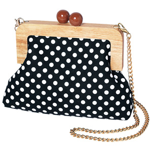 [Ranan] Dot Pattern Wood Purse Bag / New Arrival Spring 2020, Ladies